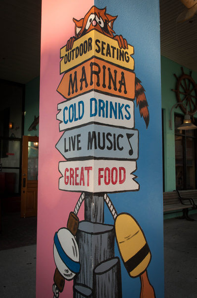 Sign at Nervous Nellie's Fort Myers Beach, Florida