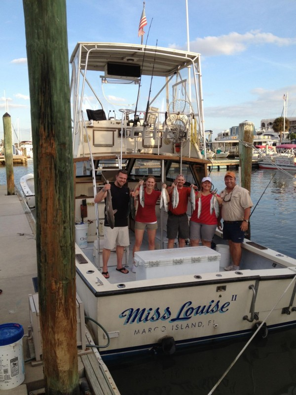 MustDo.com | Sunshine Tours fishing charters aboard the Miss Louise Marco Island, Florida. Must Do Visitor Guides.