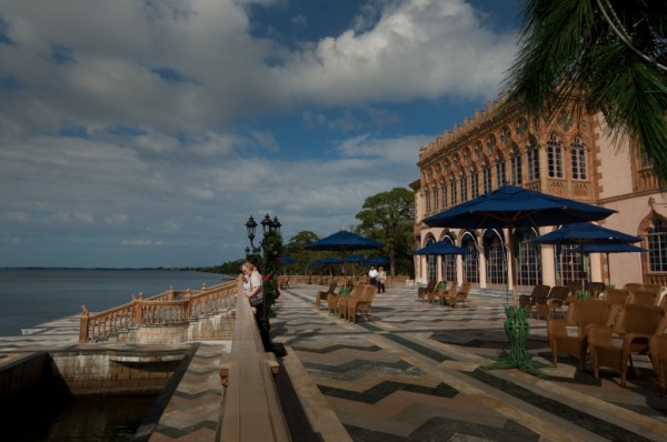 MustDo.com | Sarasota Bayfront patio at Ca d Zan Mansion, the former home of John & Mable Ringling. The Ringling Museum Sarasota, FL. Photo credit Debi Pittman Wilkey.