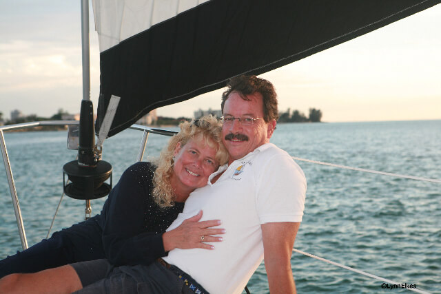MustDo.com | Key Sailing sailboat charter owners Jan & Tim aboard their sailboat Key Breeze in Sarasota, Florida