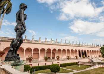 MustDo.om | Statue overlooking the Courtyard at The Ringling Museum of Art attraction in Sarasota, Florida. Photo credit Debi Pittman Wilkey.