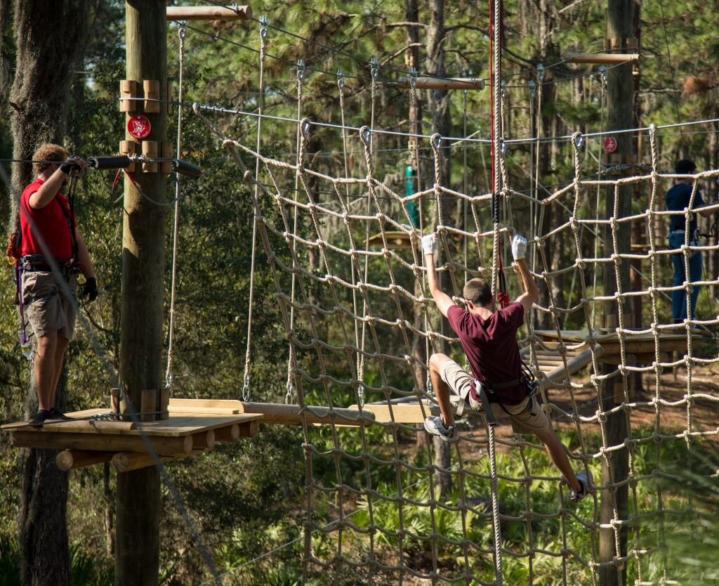 MustDo.com | Crawl, swing and zip line at TreeUmph! Adventure Course Bradenton, FL
