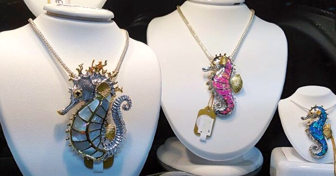 MustDo.com | Kovel seahorse jewelry at Just/Because boutique St Armands Circle Sarasota, FL