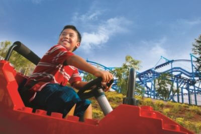MustDo.com   LEGOLAND® Florida is the largest LEGOLAND ® in the world. It features 50 rides, shows and attractions on 50 acres. Aimed at visitors aged 2 to 12, it's an amazing colorful world of rides, activities and working Lego models.