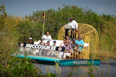 MustDo.com | Miccosukee Indian Village Airboat ride through the Everglades near Naples, Florida.