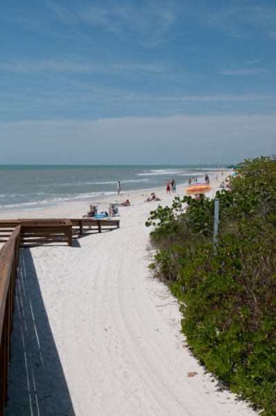 MustDo.com | White sand beach Clam Pass Beach in Naples, Florida. Photo by Debi Pittman Wilkey.