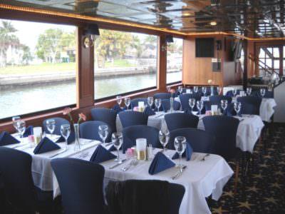 MustDo.com   Interior of Marco Island Princess dinner cruise.