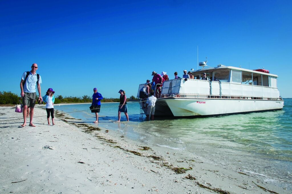 MustDo.com | Scenic narrated cruises to Cayo Costa State Park depart daily from McCarthy's Marina and Southseas Island Resort on Captiva Island, Florida. Reservations are required.