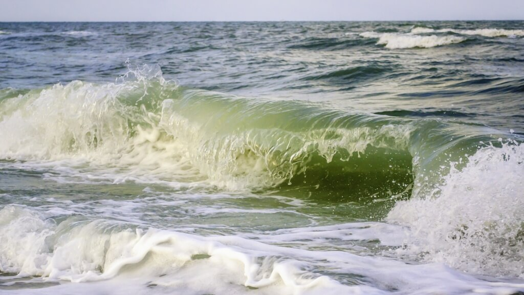 Beach waves on the Gulf of Mexico Southwest Florida.