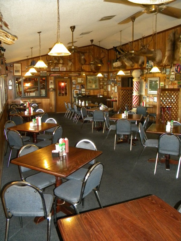 World famous Oyster House restaurant in Everglades City, Florida.