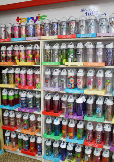 Turn your Tervis tumbler into a reusable water bottle with a clever water bottle lid.
