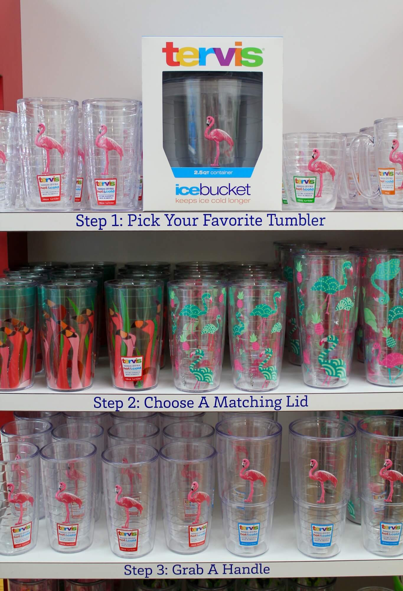 Tervis insulated tumblers come in a variety of sizes and designs