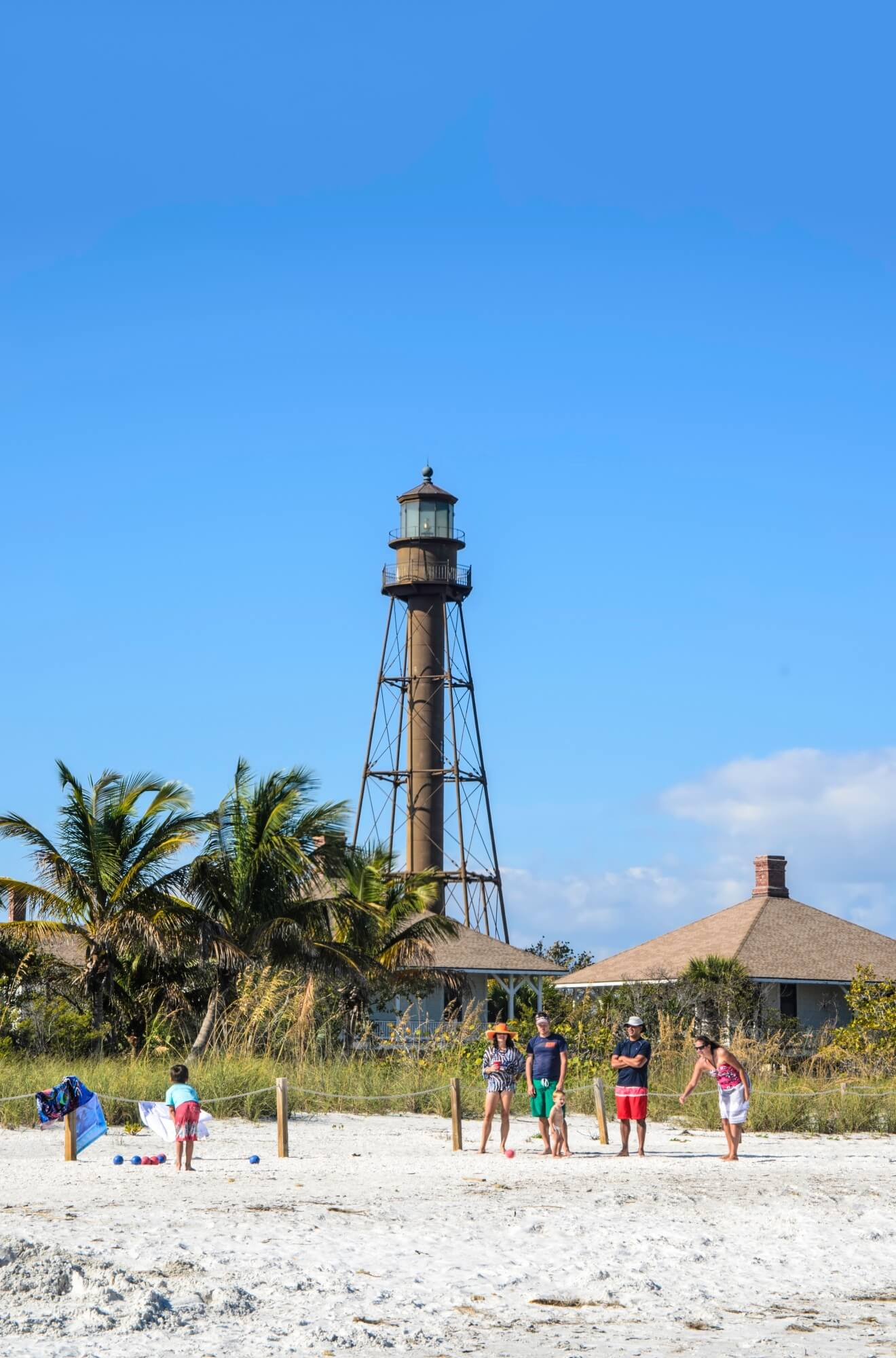 MustDo.com | Sanibel Lighthouse and white sand beach Sanibel Island, FL
