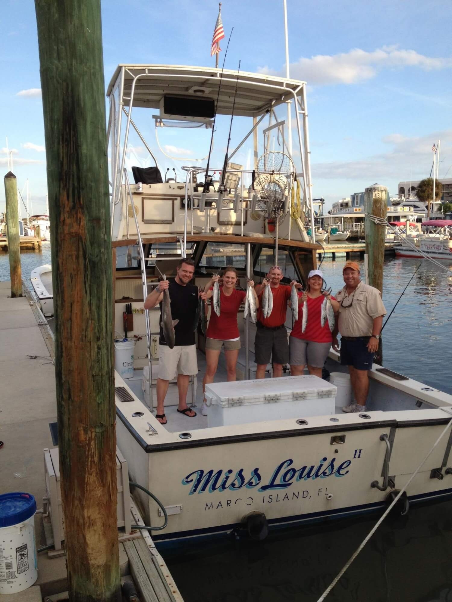 MustDo.com | Sunshine Tours & Fishing Charters aboard Miss Louise Marco Island, Florida.