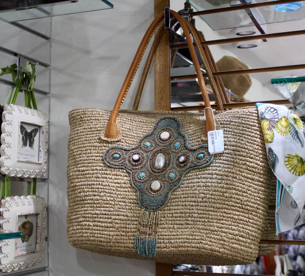 Beachy beaded handbag from Foxy Lady women's boutique Siesta Key and Sarasota, Florida. Must Do Visitor Guides, MustDo.com.