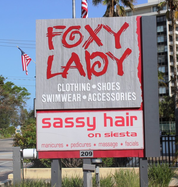Foxy Lady women's boutique Siesta Key and St. Armands Circle in Sarasota, Florida. Must Do Visitor Guides, MustDo.com.