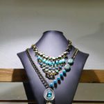 Beautiful statement necklace with turquoise beads. Foxy Lady womens boutique Siesta Key and Sarasota, Florida. Must Do Visitor Guides, MustDo.com. Photo by Nita Ettinger