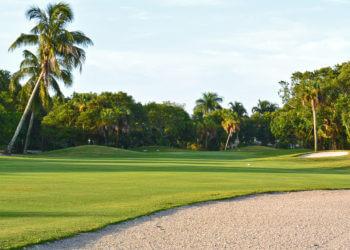 MustDo.com | Hole No. 9 fairway and green Sanibel Island Golf Club on Sanibel Island, Florida.