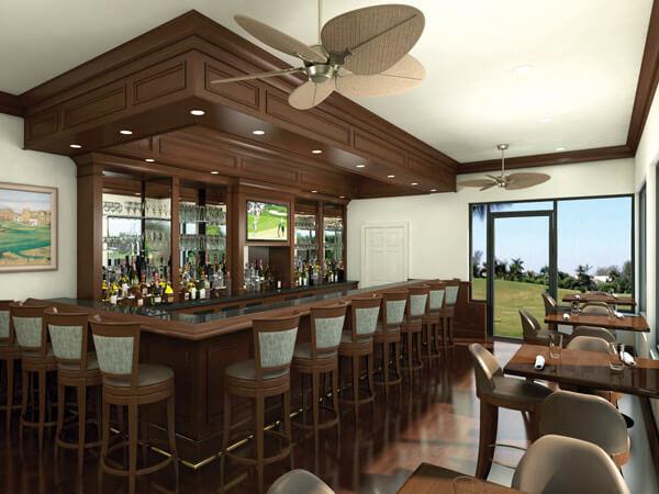 MustDo.com | Restaurant in the club house at The Dunes Golf & Tennis Club Sanibel Island, Florida