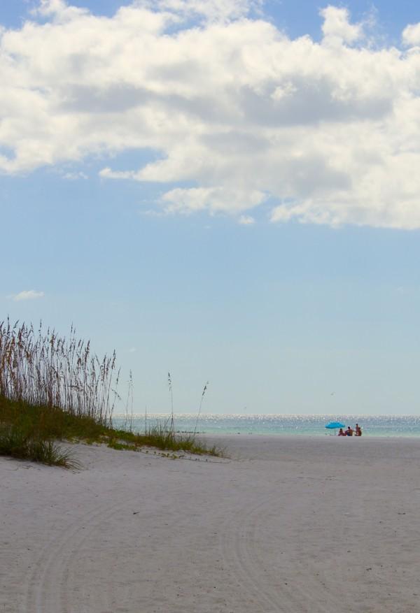 MustDo.com | Sea oats, white sand, sparkling Gulf of Mexico Coquina Beach Anna Maria Island, Florida.