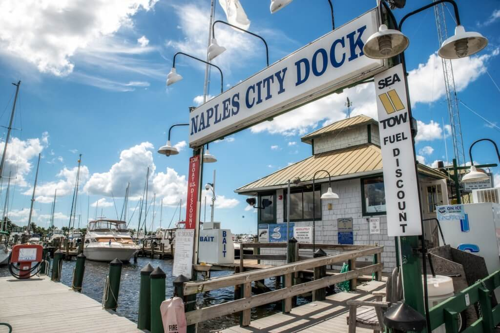MustDo.com | City Dock boat moorings Crayton Cove Naples, Florida