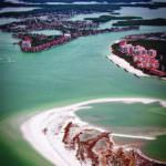 MustDo.com | Aerial view of Gulf of Mexico, white sand beaches of Marco Island, Florida