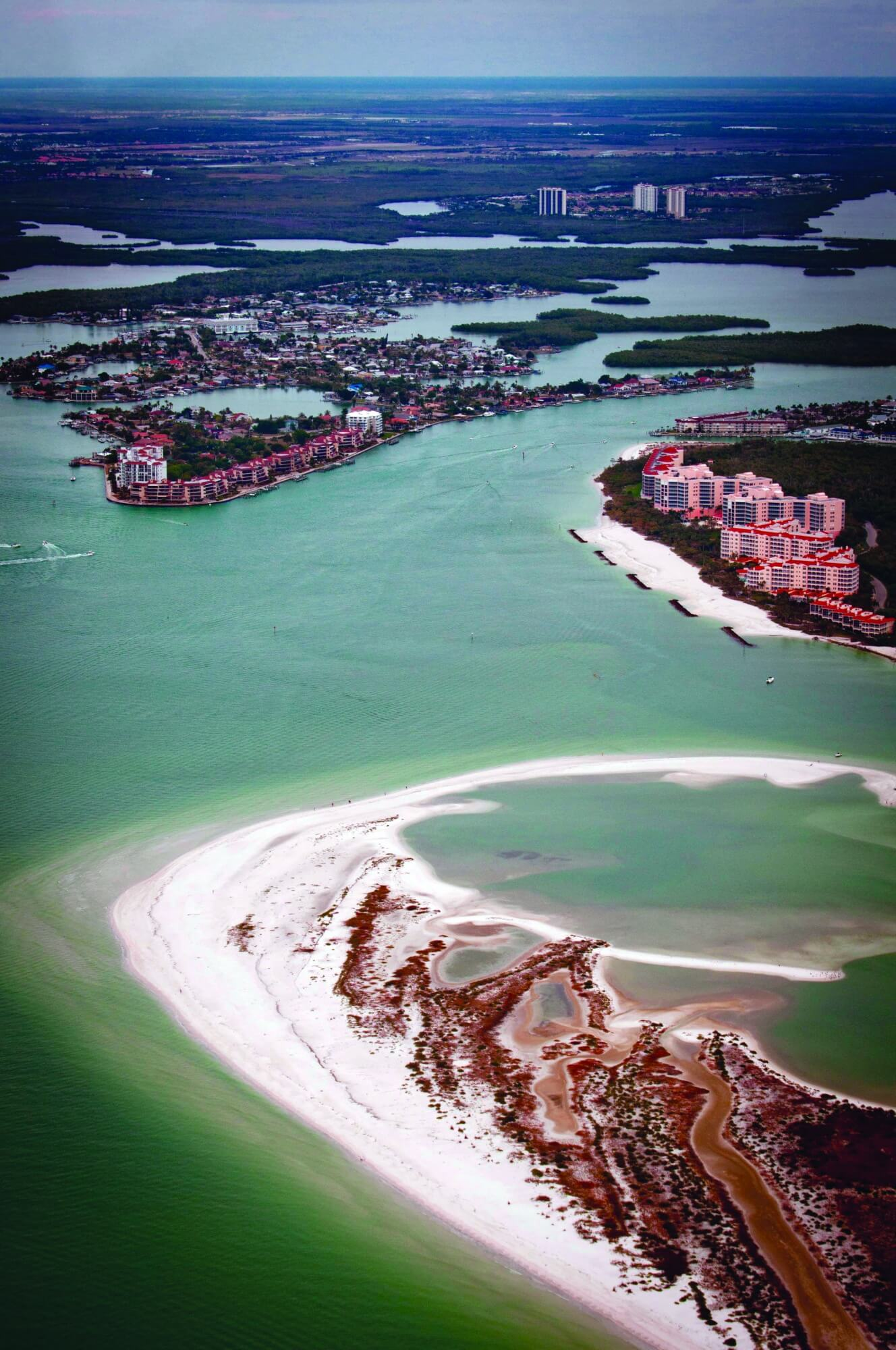 Mustdo Aerial View Of Gulf Mexico White Sand Beaches Marco