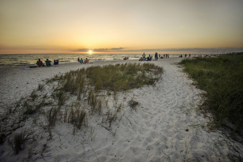 MustDo.com | Sunset at Barefoot Beach Preserve in Bonita Springs near Naples and Fort Myers, Florida