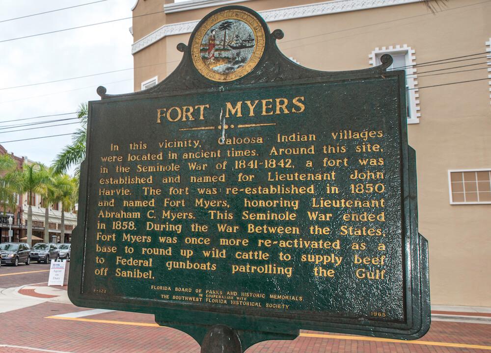 MustDo.com | Fort Myers, Florida historical marker The Southwest Florida Historical Society.