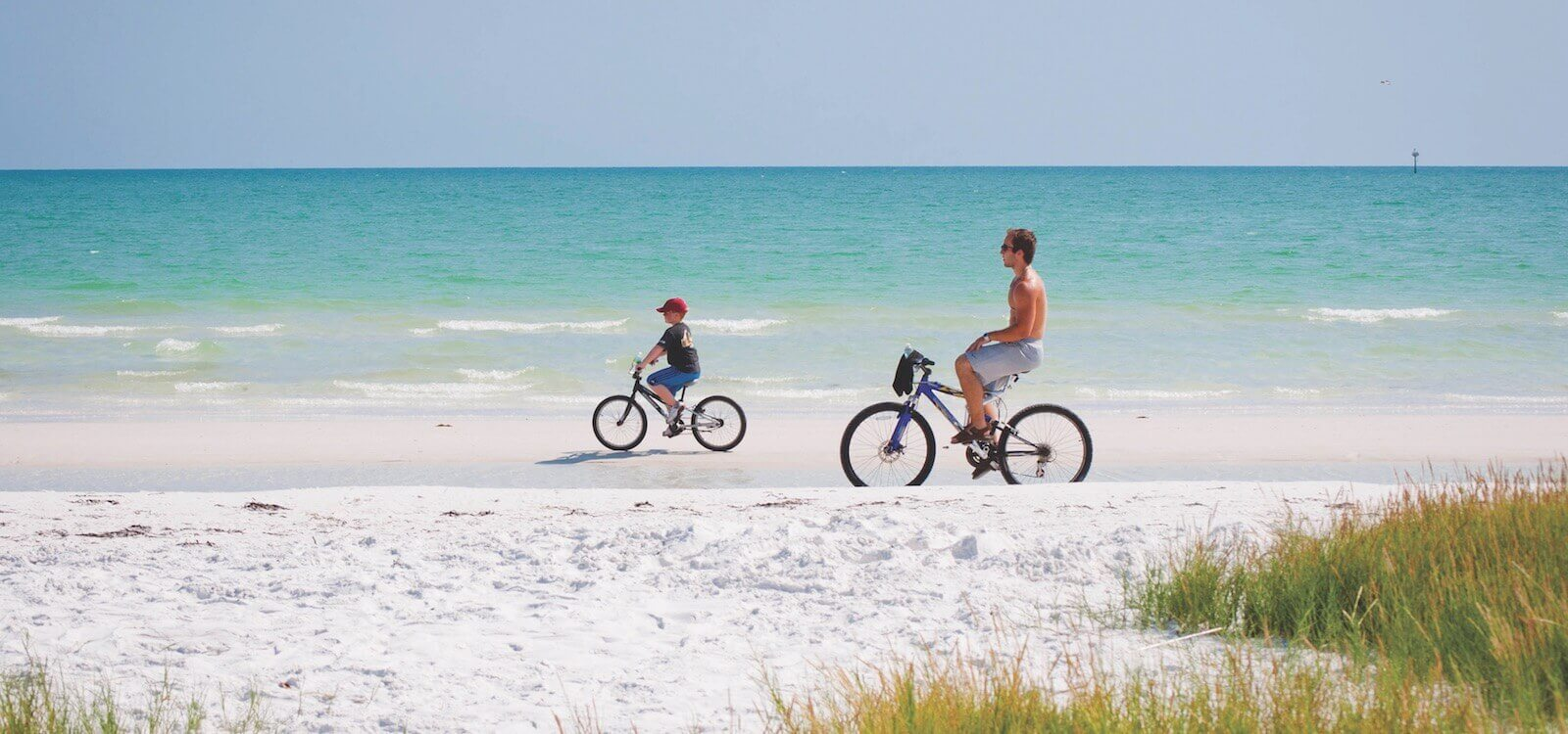 Kids, activity, bicycling, Siesta Beach, Sarasota, Florida, USA. Photo by Debi Pittman Wilkey
