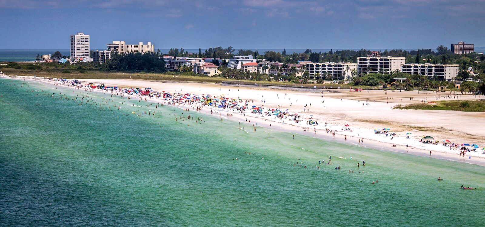 Mustdo Aerial View Of Siesta Key Beach In Sarasota Florida