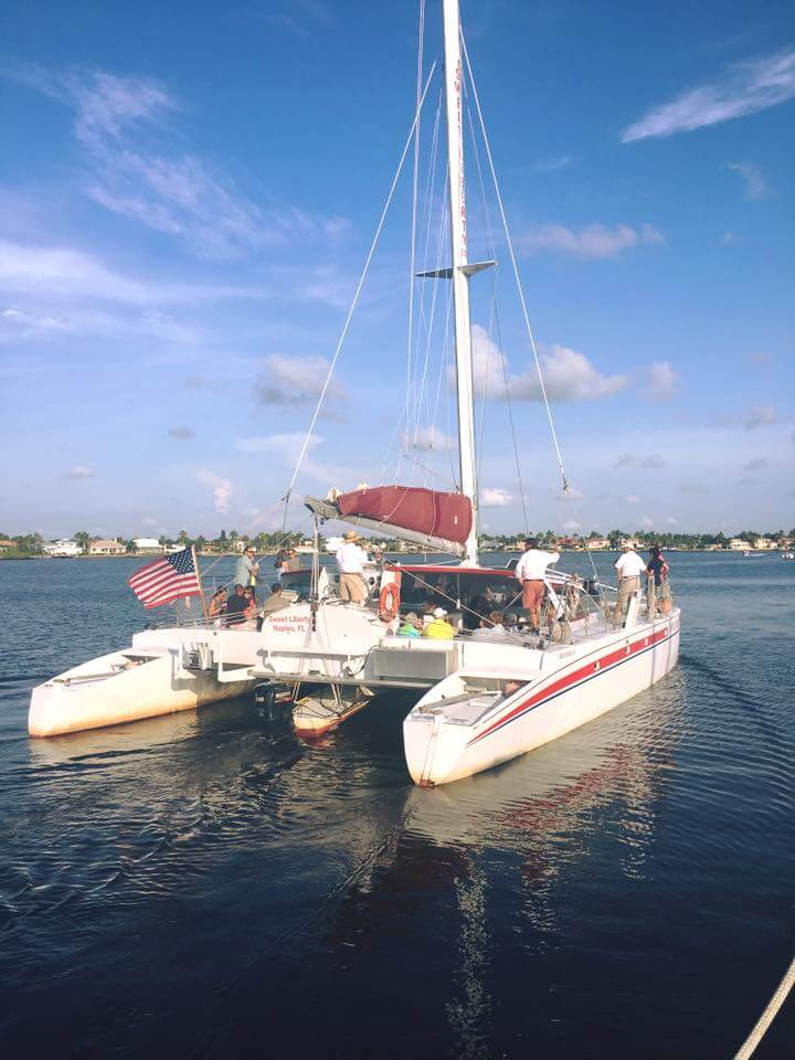 MustDo.com | Sweet Liberty catamaran family-friendly sailing wildlife cruises, shelling tours in Naples, Florida.