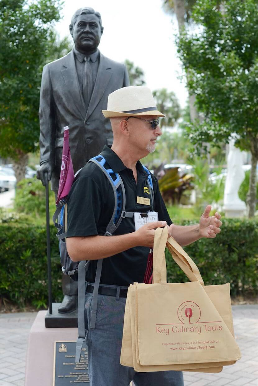 MustDo.com   Join one of the guided tours around Sarasota and enjoy food and drink samples as you learn about the area's history, art, and restaurant scene.