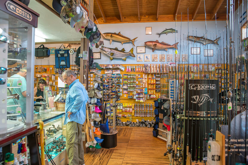 MustDo.com | Fishing enthusiasts on Sanibel will find everything they need at Whitney's Bait and Tackle, from bespoke rods and hand-tied flies to guided fishing charters. Photo by Jennifer Brinkman.
