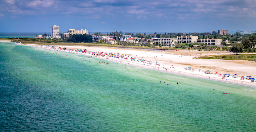 It S 99 Percent Aerial View Of Siesta Key Beach In Sarasota Florida Is Favorite Among