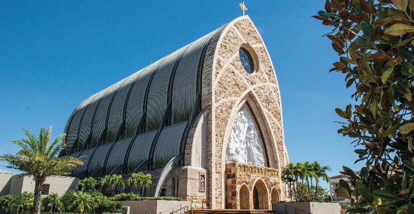 MustDo.com   Ave Maria's award-winning Oratory church architecture in Ave Maria, near Immokolee and Naples, Florida, USA. Photo by Debi Pittman Wilkey.