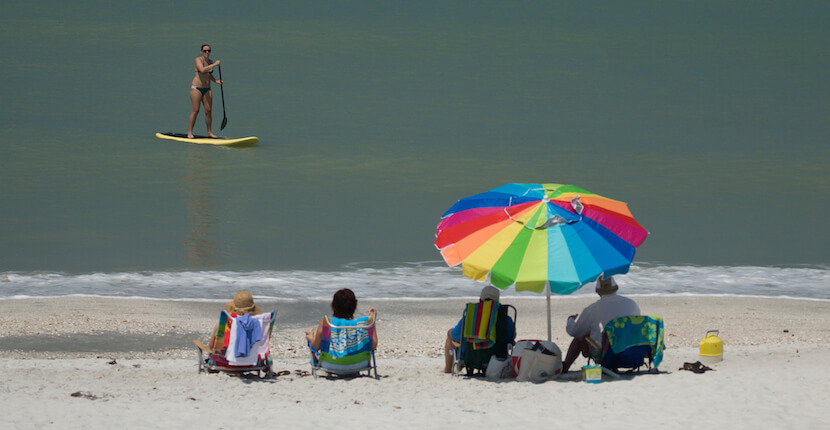 MustDo.com | Barefoot Beach Preserve in Bonita Beach, Florida is the perfect beach choice for people wanting to enjoy a more natural beach environment and ideal for families, the beach offers safe swimming. Photo by Mary Carol Fitzgerald.