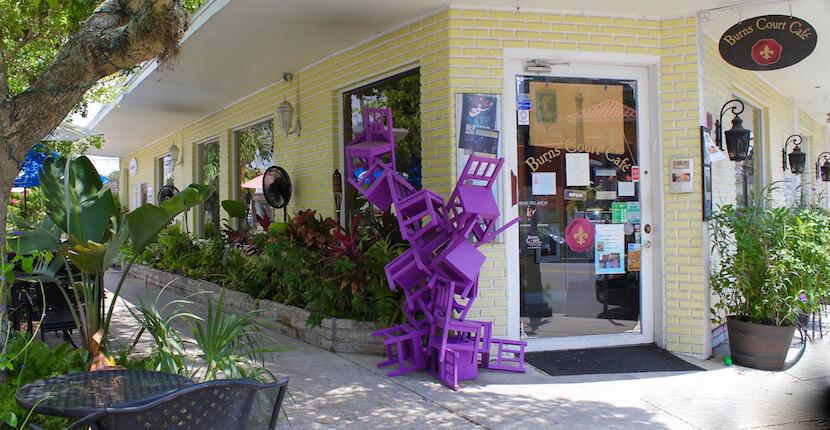 Burns Court Cafe & Wine Bar Sarasota, Florida. Must Do Visitor Guides, MustDo.com.