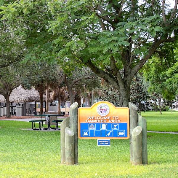 MustDo.com | Cambier Park Naples, Florida Children's playground, shuffleboard, tot lot, covered pavilion, picnic area, and restrooms cover the basics for family fun. Cambier Park also features the Arthur L. Allen Tennis Center.