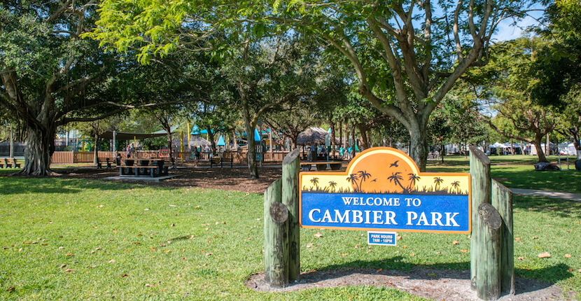 Cambier Park Naples, Florida Children's playground, shuffleboard, tot lot, covered pavilion, picnic area, and restrooms cover the basics for family fun. Cambier Park also features the Arthur L. Allen Tennis Center. Photo by Jennifer Brinkman | MustDo.com