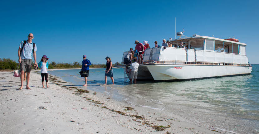 MustDo.com | Captiva Cruises offer cruises to Cayo Costa for shelling and exploring this pristine uninhabited out island near Sanibel, Captiva and Fort Myers, Florida.