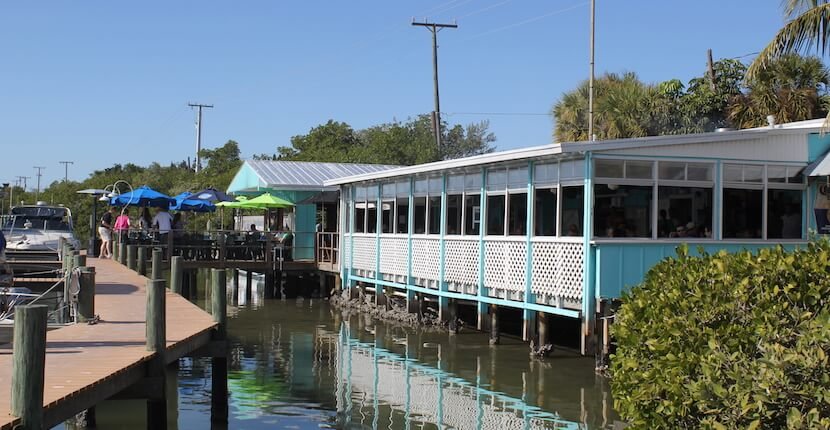 Casey Key Fish House Sarasota casual old Florida waterfront restaurant. Must Do Visitor Guides, MustDo.com.