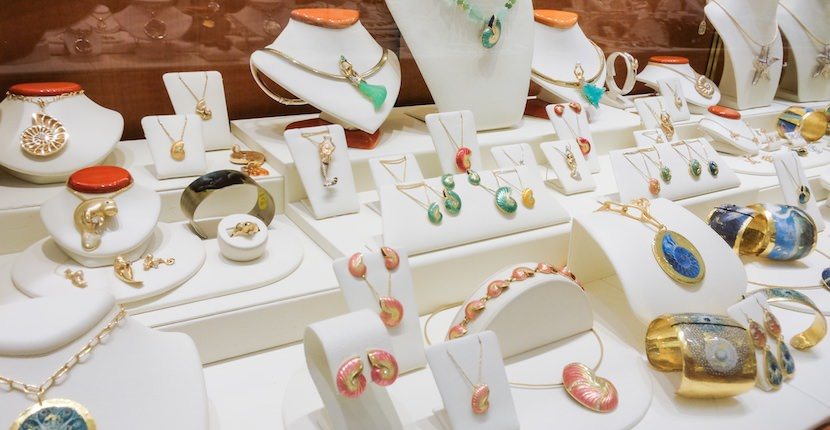 Cedar Chest Fine Jewelry on Sanibel features an exclusive selection of unique and original sea life and nature-themed jewelry. Photo by Mary Carol Fitzgerald.