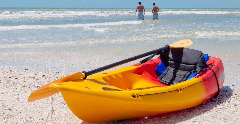 MustDo.com | Kayak at Clam Pass Park a gorgeous, family-friendly beach with soft white sand, calm waters, and is one of the most popular beach access points in the Naples, Florida area. Photo by Debi Pittman Wilkey.
