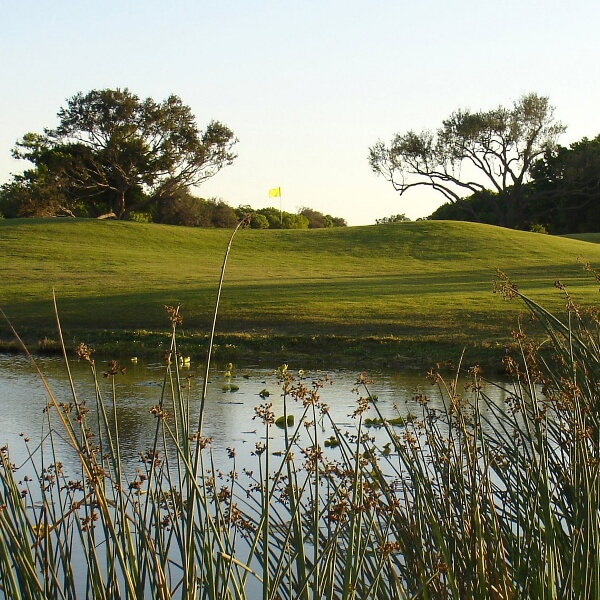 Hole no. 14 at Coral Oaks Golf Course in Cape Coral near Fort Myers, Florida. Must Do Visitor Guides, MustDo.com.