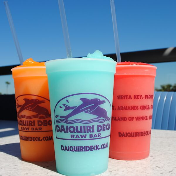 Visit the Daiquiri Deck Raw Bar in Siesta Key Village, on St. Armands Circle, or in downtown Venice and cool off with a frozen daiquiri, for oysters and shooters, or dig in at the Deck with classic American fare. Must Do Visitor Guides, MustDo.com