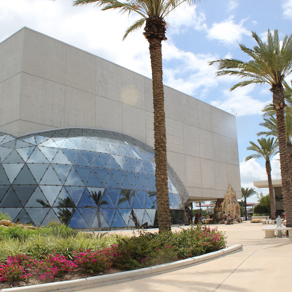 The Dali Museum is one of the most intriguing art museums in the United States and is located in St. Petersburg, Florida which is approximately 45 minutes north of Sarasota. The late surrealist, Salvador Dali, rose to fame by painting outlandish, dreamlike imagery. His paintings of melting clocks, anatomical anomalies, and photographic precision can be seen in this 2,800 square foot museum. Must Do Visitor Guides, MustDo.com.