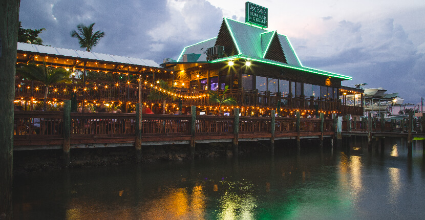 "Doc Ford's Rum Bar & Grille restaurant on Sanibel, Captiva, and Fort Myers Beach is a local favorite that combines fantastic award-winning food with a fun atmosphere inspired by best-selling author Randy Wayne White's character, Marion ""Doc"" Ford, an adventurer, biologist and ex-government agent. MustDo.com"