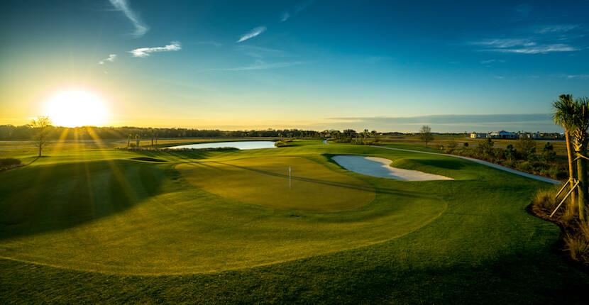 Sarasota public golf course Esplanade Golf & Country Club Lakewood Ranch, Florida. Must Do Visitor Guides, MustDo.com.