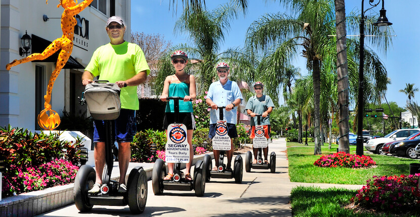 Extreme Family Fun Spot in Naples, Florida offers family fun narrated Segway tours, fishing charters, bike, kayak, standup paddle board, and boat rentals.